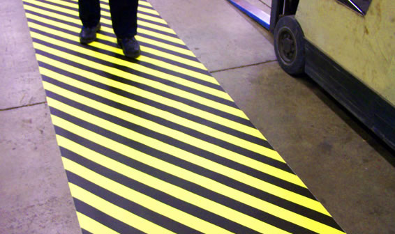 ATC Floor tape - hazard marking