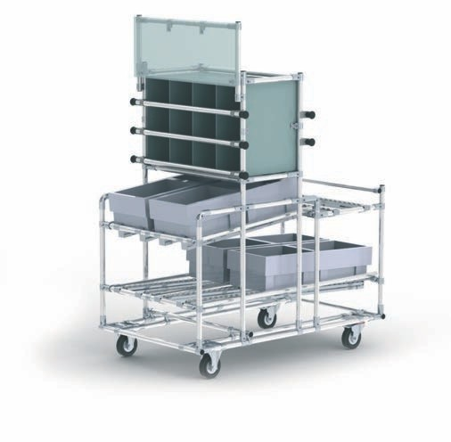 folding cart with wheels